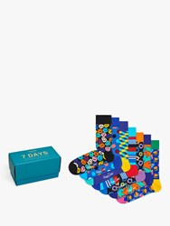 Happy Socks 7 Days Gift Box One Size Pack Of 7 Multi