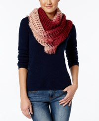 Steve Madden Made In The Shade Infinity Scarf Maroon