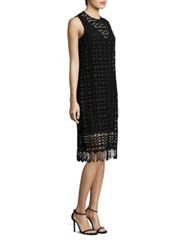 Laundry By Shelli Segal Lace Fringe Hem Dress