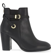 Carvela Stacey Leather Heeled Ankle Boots Black