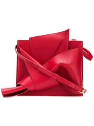 N 21 No21 Abstract Bow Cross Body Bag Red