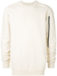 Rick Owens Drkshdw Crew Neck Sweater Nude And Neutrals