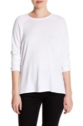 Sweet Romeo Long Raglan Sleeve Pullover White