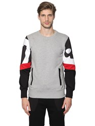 Hydrogen Cotton Sweatshirt W Printed Sleeves