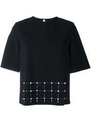 Versus Studded Short Sleeve Blouse Black