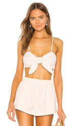 Lpa Knot Bandeau In Cream. Ivory