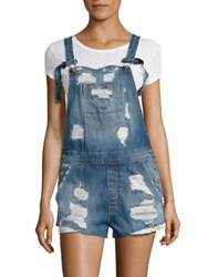 Hudson Florence Distressed Denim Short Overalls Southpaw 2