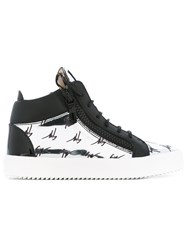 Giuseppe Zanotti Design Kriss Hi Top Sneakers Women Leather Patent Leather Rubber 36.5 Black