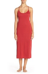 Women's Natori 'Shangri La' Knit Gown Red