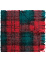Marni Checked Scarf Red