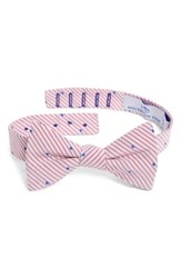 Southern Tide Charleston Dot Cotton And Silk Bow Tie Raspberry