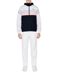 Lacoste Sport Colorblock Two Piece Taffeta Tracksuit White