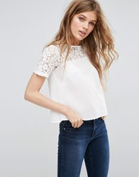 Girls On Film Lace Top Cream