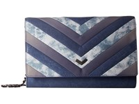 Botkier Soho Quilted Wallet On A Chain Indigo Patchwork Wallet Handbags Multi