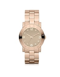 Marc By Marc Jacobs Amy 36.5 Mm Rose Gold Tone Stainless Steel Women's Watch