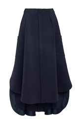 Alexis Mabille Pleated A Line Skirt Navy