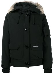 Canada Goose Zipped Hooded Coat Black