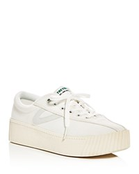 Tretorn Tretron Nylite Bold Canvas Lace Up Platform Sneakers White