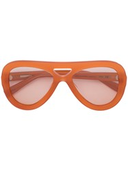 Derek Lam Charlotte Sunglasses Women Acetate One Size Yellow Orange