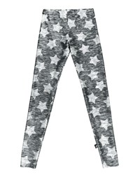 Terez Heathered Star Print Leggings Gray