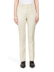 Simone Rocha Floral Embossed Bootcut Pants Gold