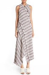 Proenza Schouler Women's Asymmetrical Tweed Maxi Dress
