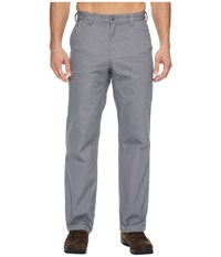 Mountain Khakis Flannel Lined Original Pants Relaxed Fit Gunmetal Casual Pants Gray