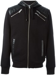 Just Cavalli Zipped Up Hoodie Black