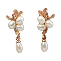 Bellus Domina Amare Pearl And Gold Earrings