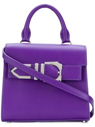 Versus Iconic Buckle Tote Bag Pink And Purple