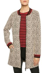 Sanctuary Women's Leopard Print Knit City Coat