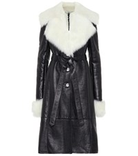 Magda Butrym Hudson Leather Coat Black