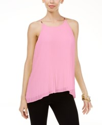Thalia Sodi Pleated Top Only At Macy's Pale Orchid