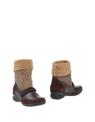 A.Testoni Ankle Boots Dark Brown