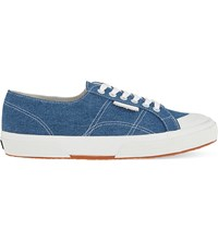 Sandro X Superga Denim 2750 Tennis Shoes Blue Vintage Denim