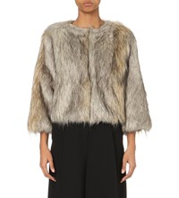 Whistles Colby Faux Fur Jacket Multi Coloured