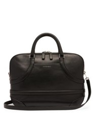 Alexander Mcqueen Harness Leather Briefcase Bag Black