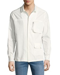 Ovadia And Sons Men's Jungle Cotton Shirt White