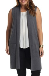 Tart Plus Size Women's Melva Cotton And Cashmere Open Front Sweater Vest