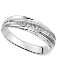 Macy's Wedding Band Ring In Sterling Silver 1 10 Ct. T.W.
