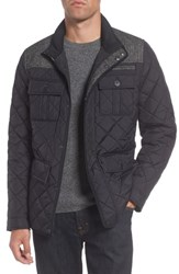 Vince Camuto Diamond Quilted Full Zip Jacket Black
