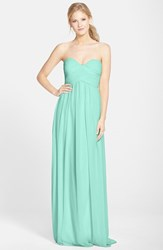 Women's Donna Morgan 'Laura' Ruched Sweetheart Silk Chiffon Gown Spearmint