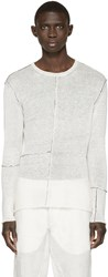 Isabel Benenato Off White Contrast Seam Sweater