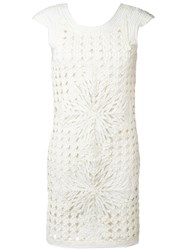 Class Roberto Cavalli Layered Cut Out Dress White