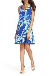 Lilly Pulitzer Lily Florin Reversible Shift Dress Twilight Blue Nest To Nothing