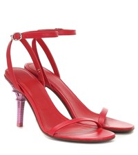 Vetements Leather Sandals Red