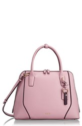 Tumi Stanton Janet Leather Dome Satchel Briefcase Pink