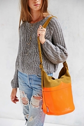 Hunter Moustache Bucket Bag Brown Neon Orange