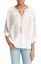 Women's Joie 'Sunflower' Embroidered Top