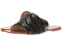 Brian Atwood Dahl Black Leather Women's Sandals